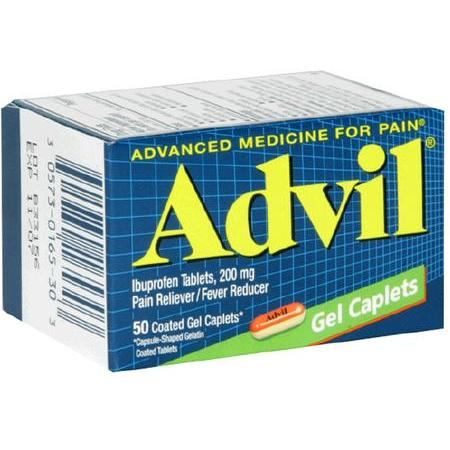 Advil Ibuprofen 200mg Gel Caplets 50 Count