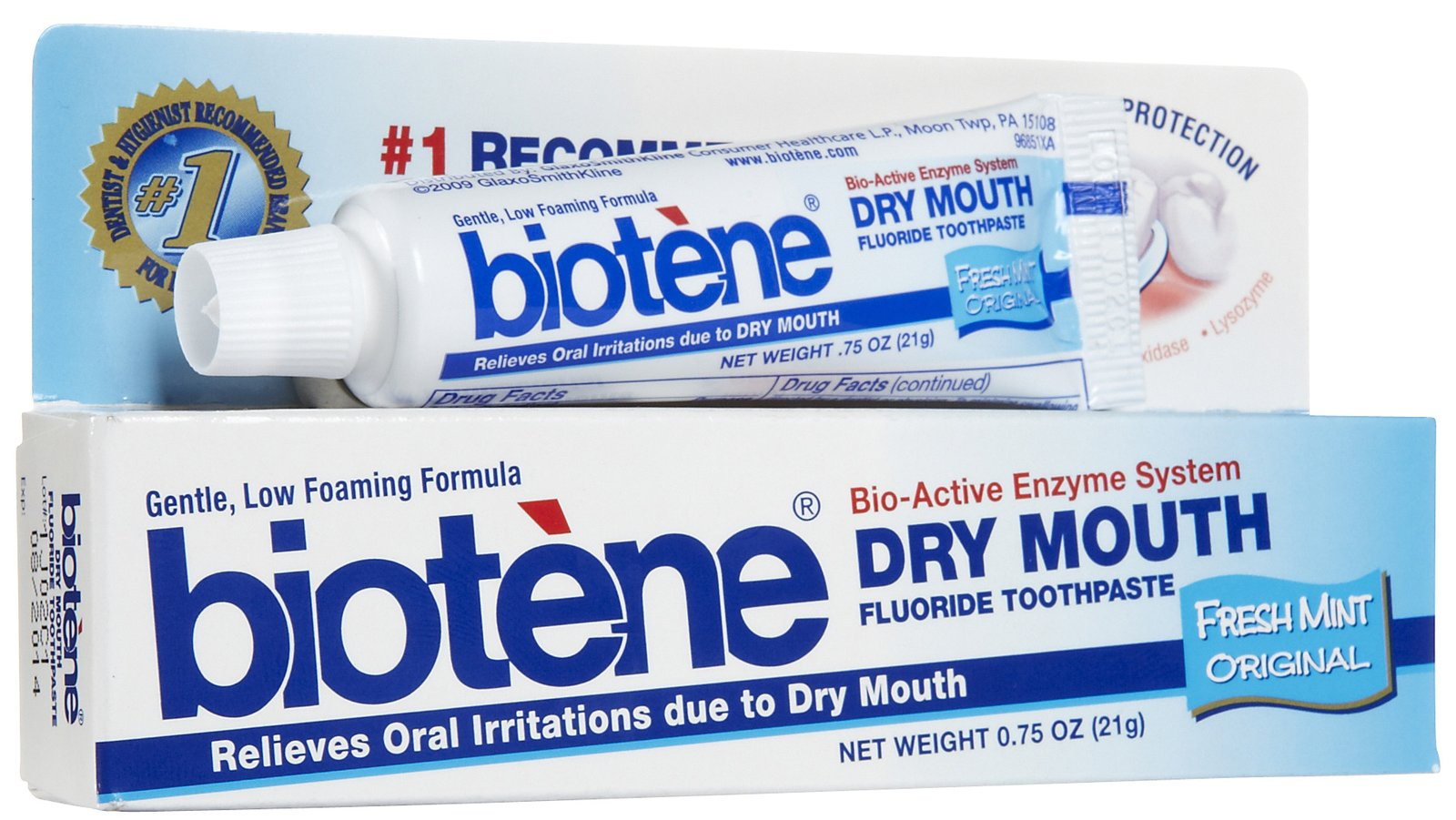 Biotene Antibacterial Dry Mouth Mint Toothpaste-Mint-0 75 oz